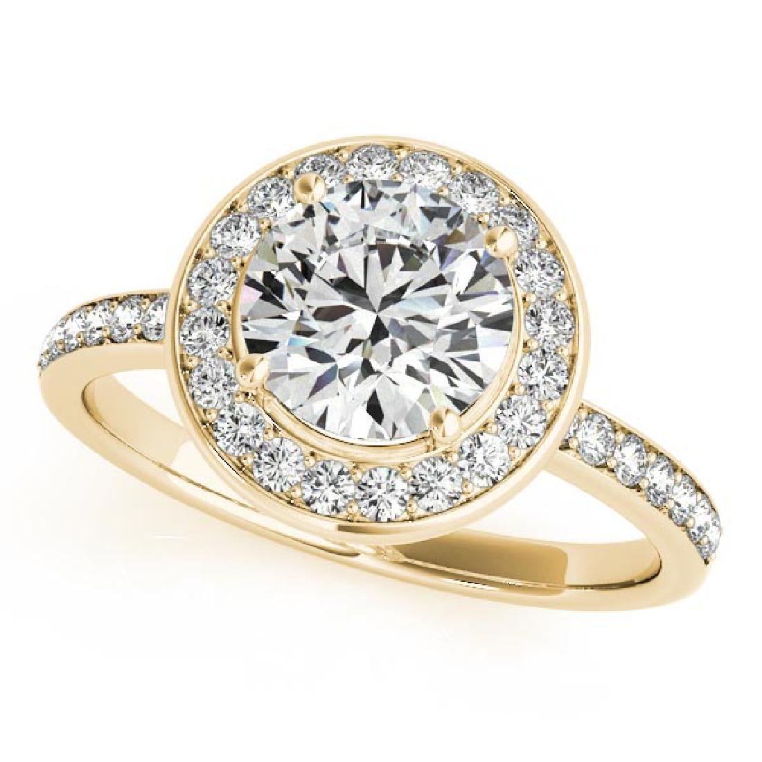 CERTIFIED 18K YELLOW GOLD 1.54 CT G-H/VS-SI1 DIAMOND HA