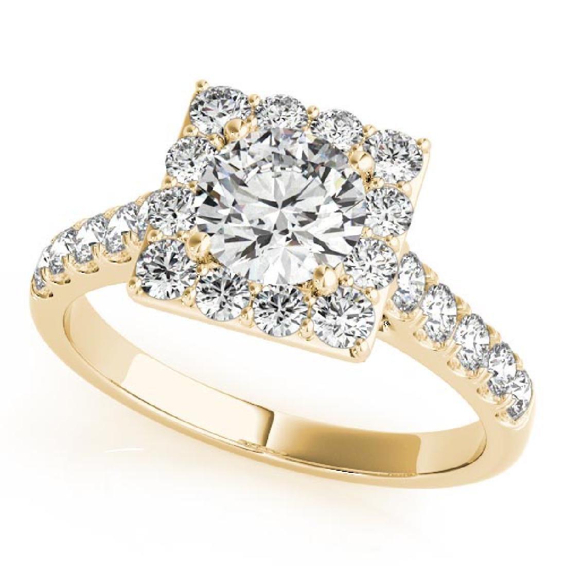 CERTIFIED 14KT WHITE GOLD 1.65 CT G-H/VS-SI1 DIAMOND HA