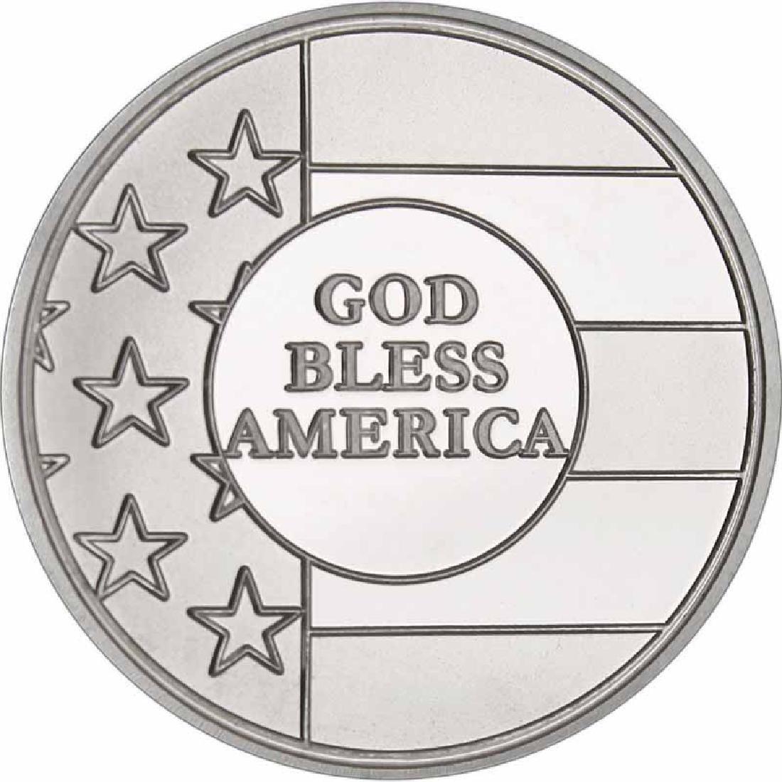 God Bless America .999 Silver 1 oz Round
