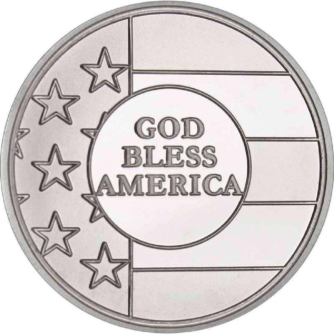 God Bless America .999 Silver 1 oz Round