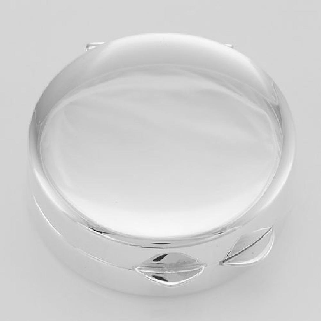 Beautiful Engravable Round Sterling Silver Pillbox - Ma