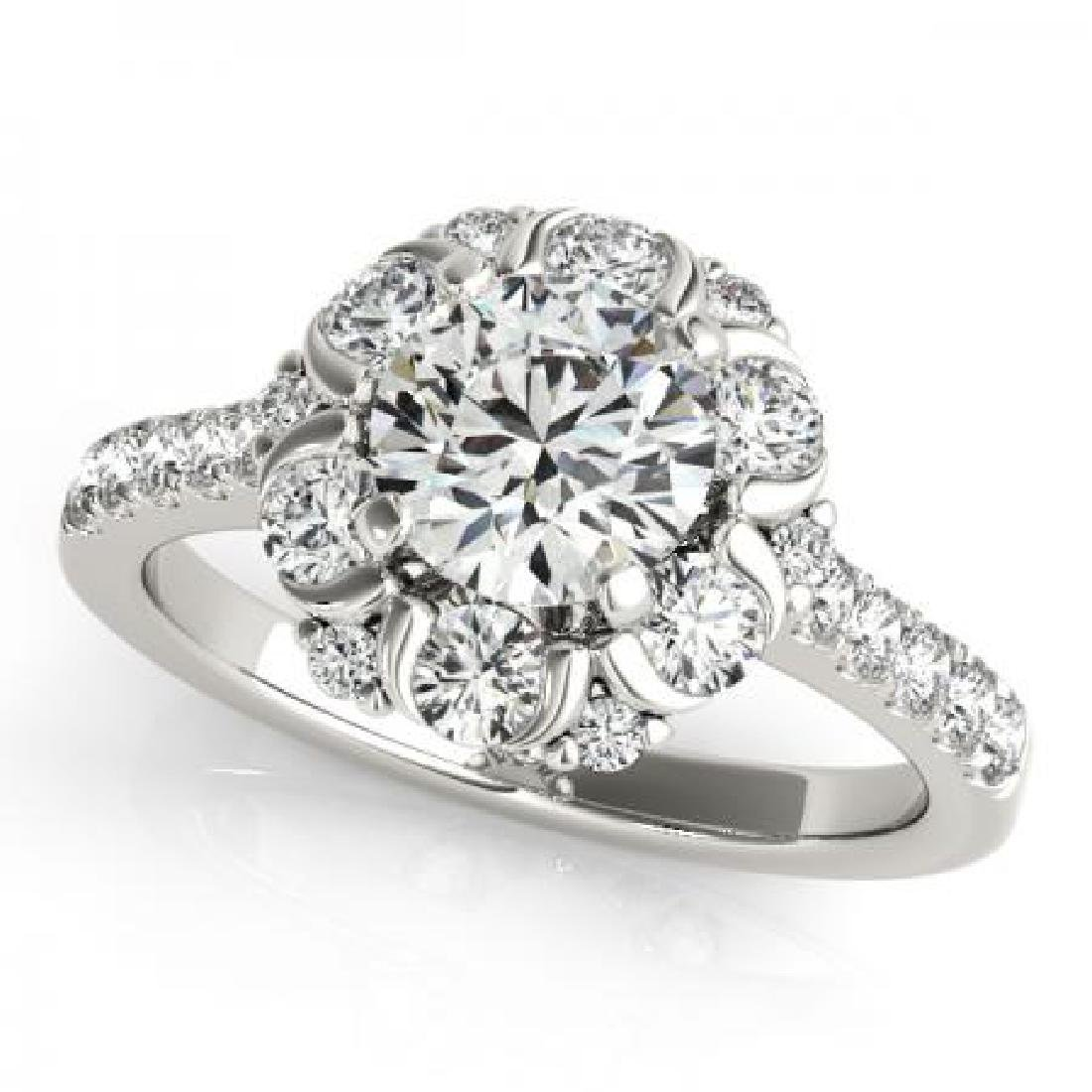 CERTIFIED PLATINUM 1.51 CT G-H/VS-SI1 DIAMOND HALO ENGA