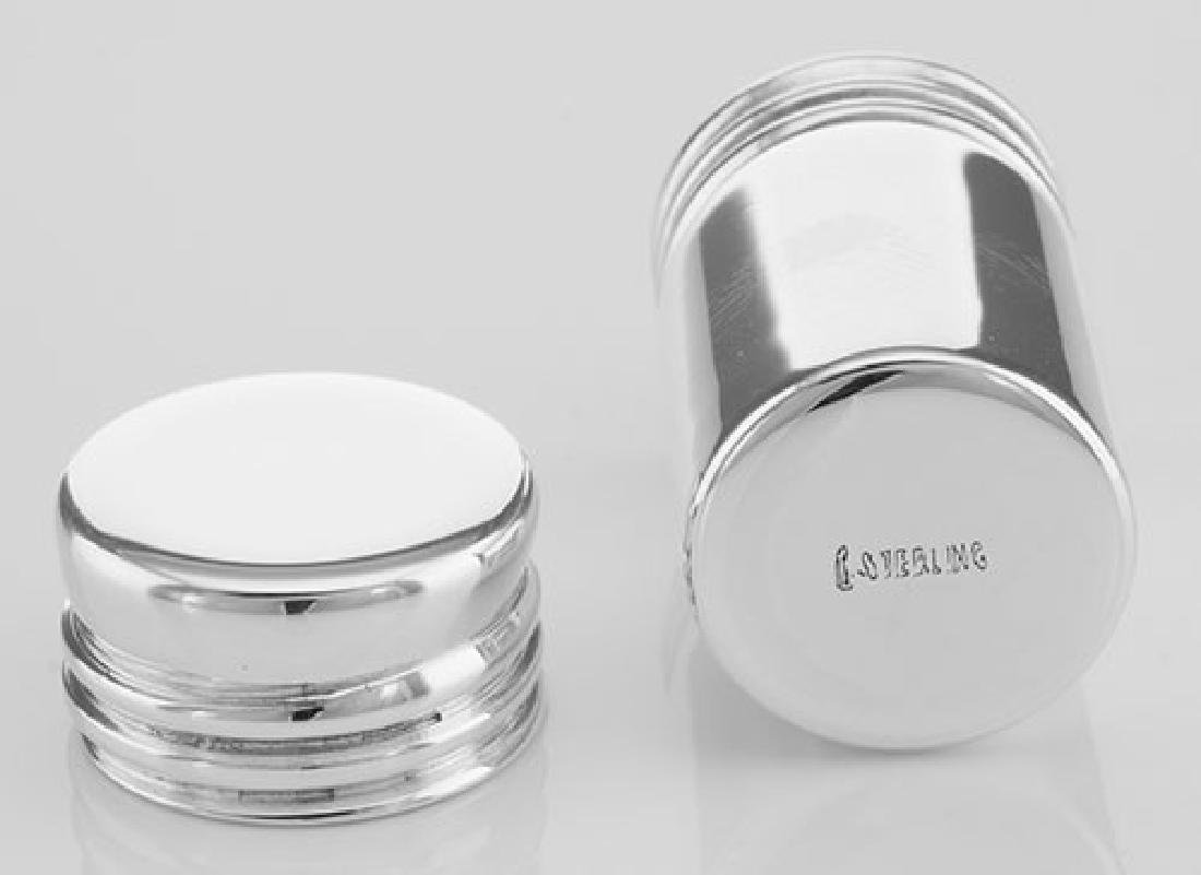 Pillbox Sterling Silver Cylinder Pill Box Made in USA - 3