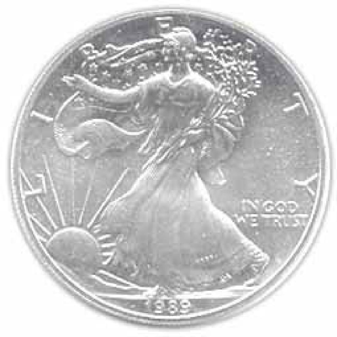 1989 1 oz Silver American Eagle BU