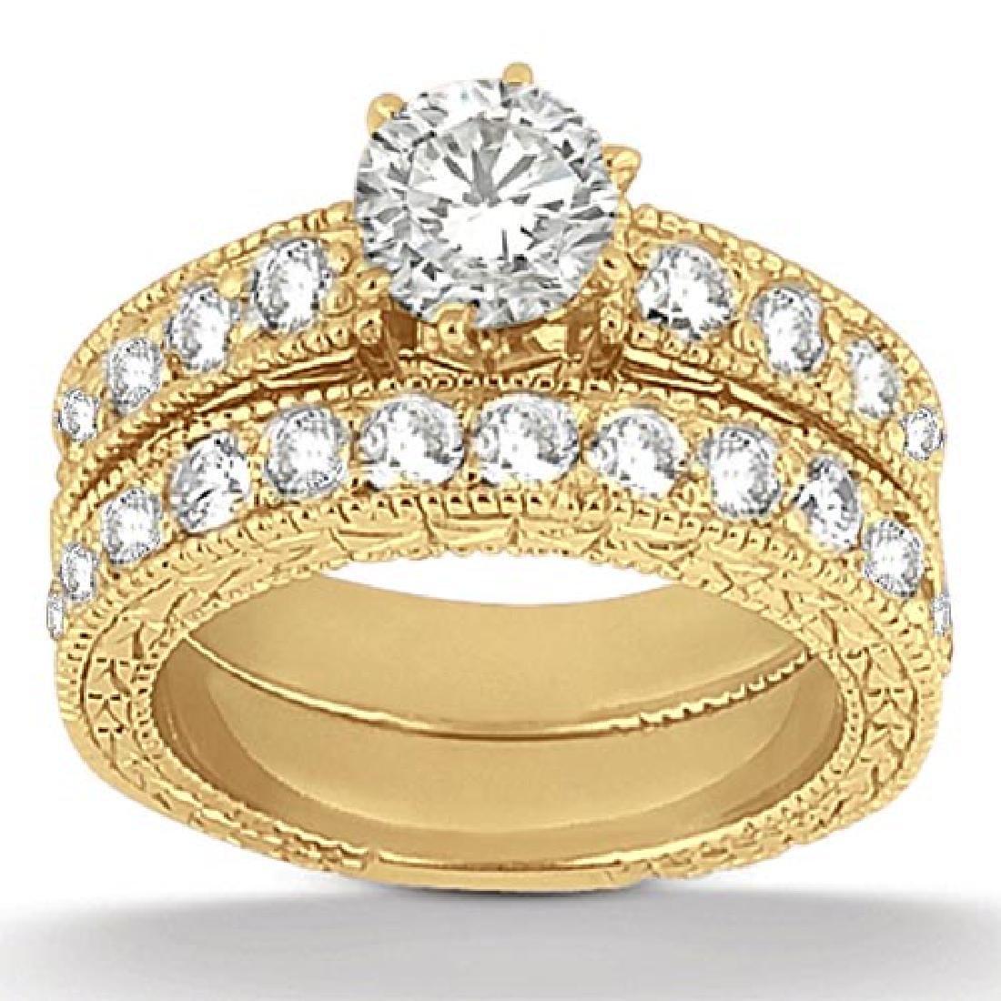 Twisted Infinity Diamond Engagement Ring Setting platin
