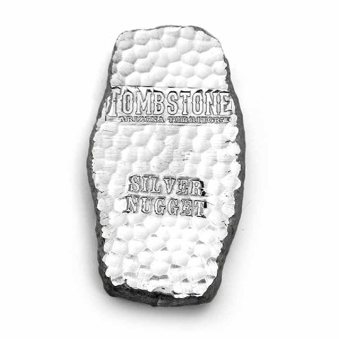 1 Kilo Scottsdale Tombstone Silver Nugget Bar