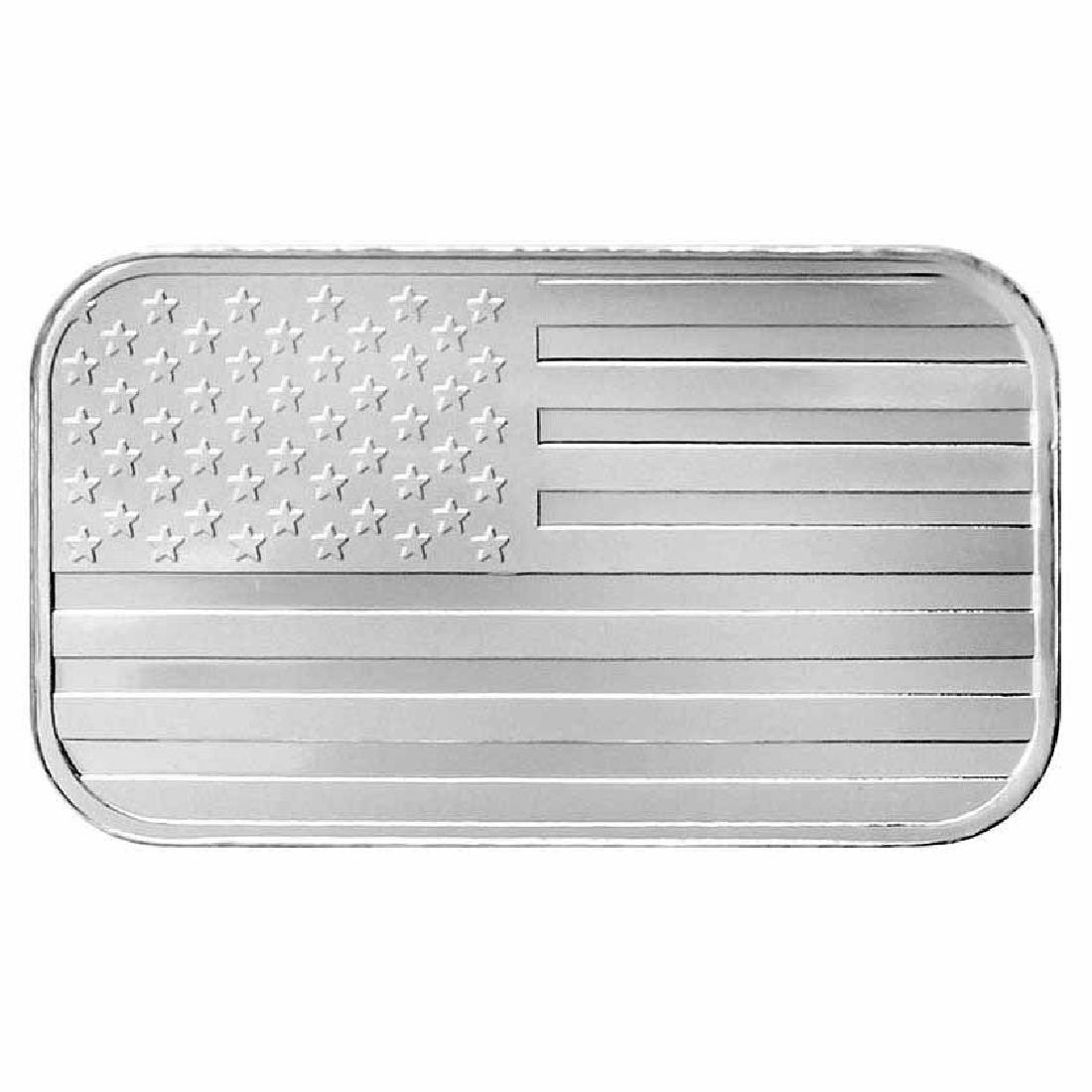 SilverTowne 1 oz Silver Bar - Flag Design