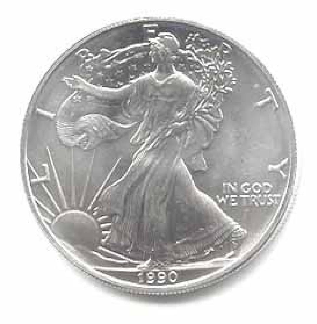 1990 1 oz Silver American Eagle BU