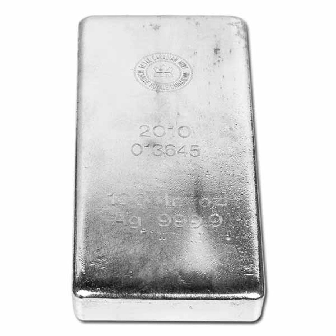 Royal Canadian Mint RCM Silver Bar 100 oz