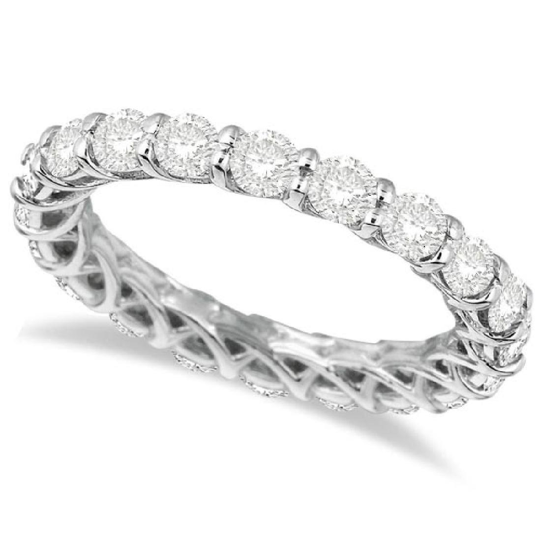 Luxury Diamond Eternity Anniversary Ring Band 14k White