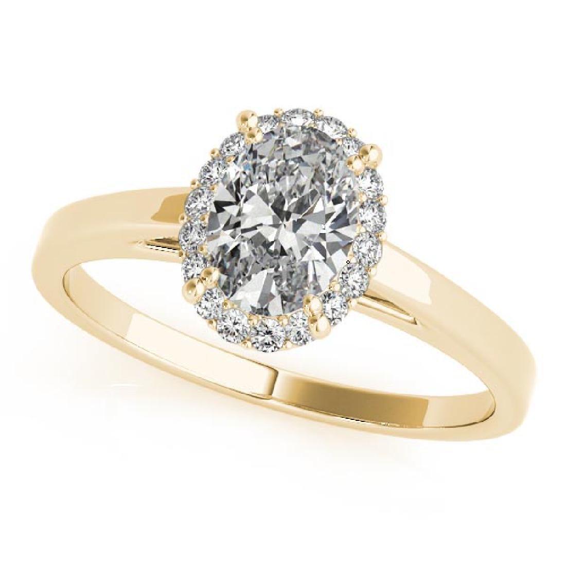 CERTIFIED 14KT WHITE GOLD .95 CT G-H/VS-SI1 DIAMOND HAL