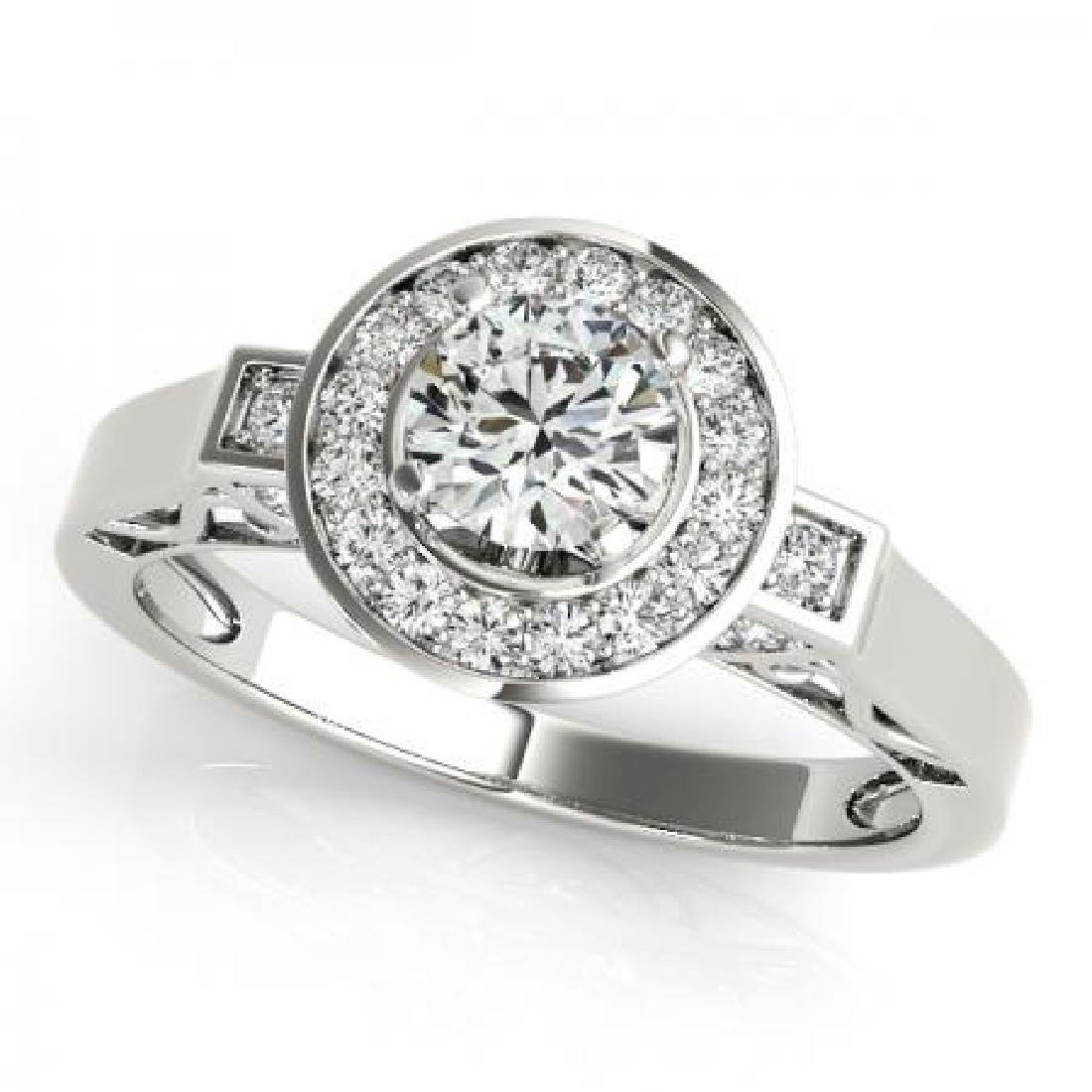 CERTIFIED PLATINUM 0.97 CT G-H/VS-SI1 DIAMOND HALO ENGA