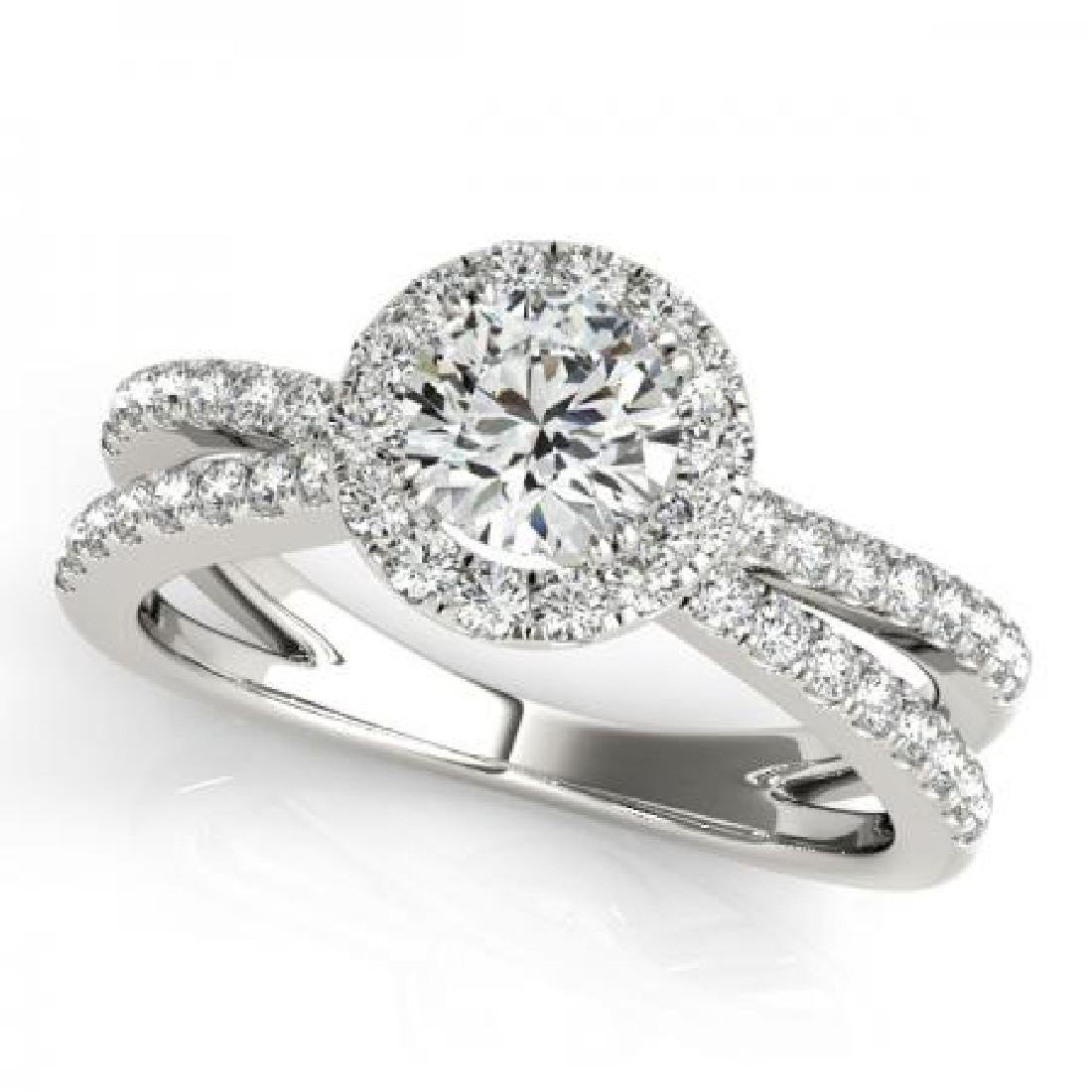 CERTIFIED PLATINUM 1.15 CT G-H/VS-SI1 DIAMOND HALO ENGA