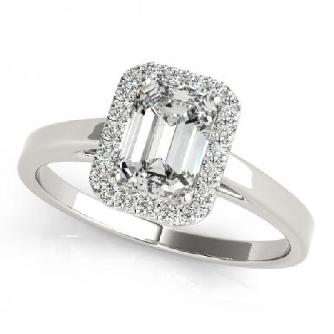 CERTIFIED 18KT WHITE GOLD 1.10 CT G-H/VS-SI1 DIAMOND HA