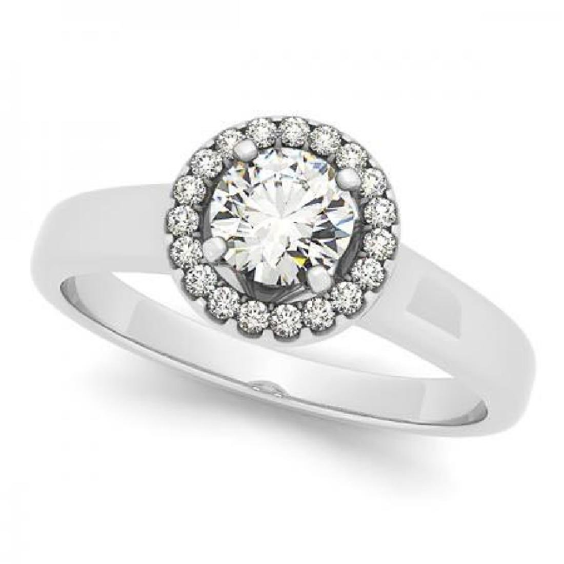 CERTIFIED PLATINUM 0.91 CT G-H/VS-SI1 DIAMOND HALO ENGA