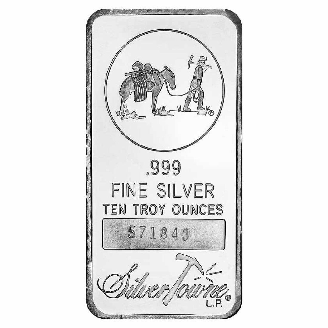 SilverTowne 10 oz Silver Bar - Prospector Design