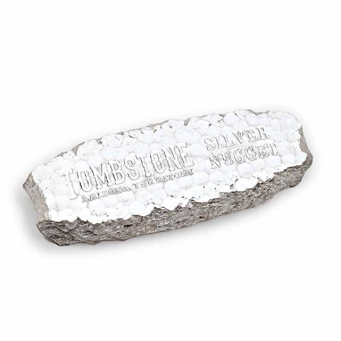 10 oz Scottsdale Tombstone Silver Nugget Bar