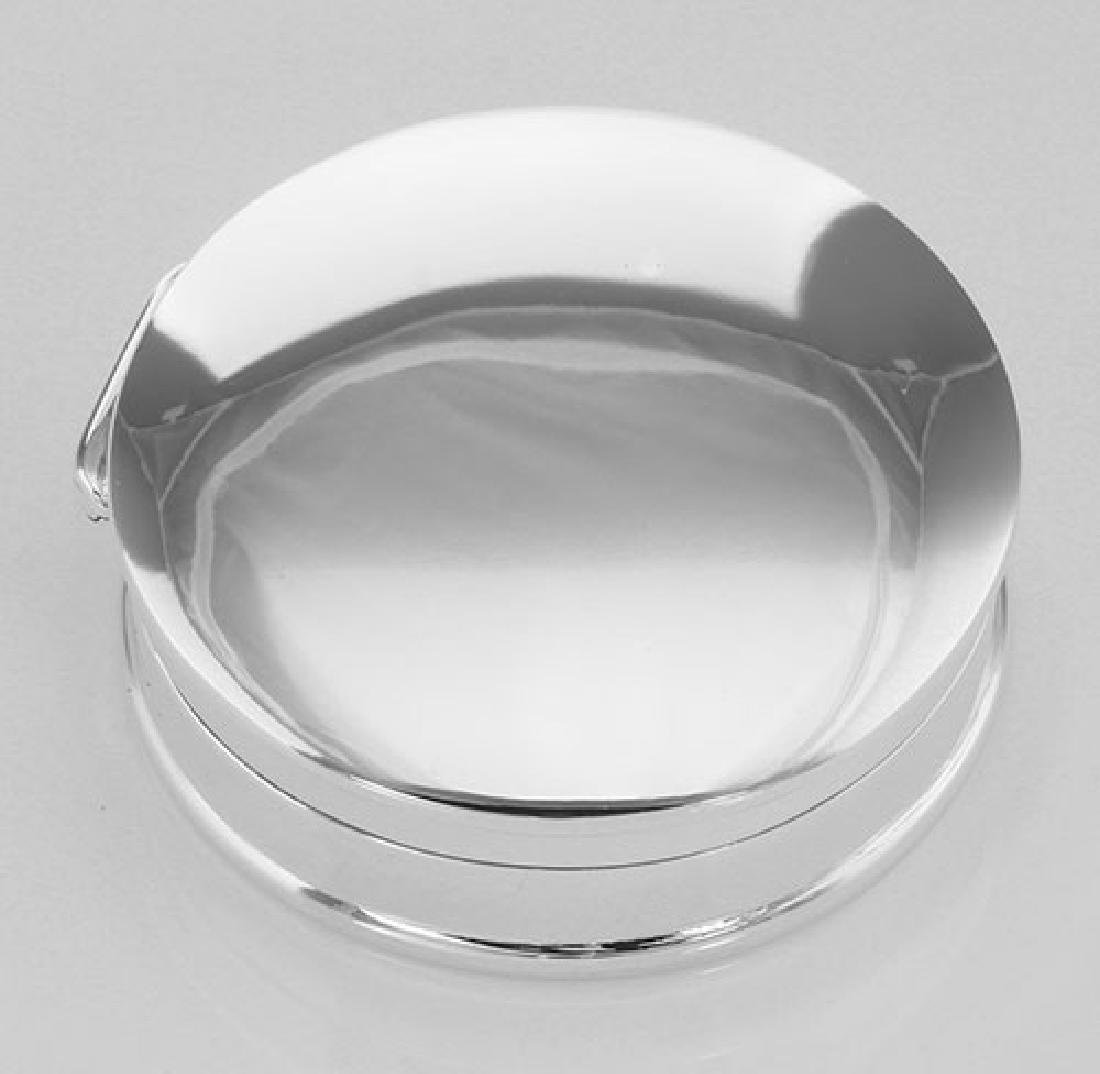 Classic Medium Round Sterling Silver Pillbox - Engravab