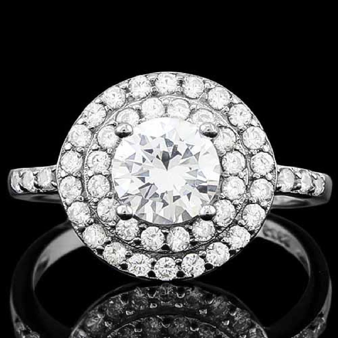 1 4/5 CARAT (53 PCS) FLAWLESS CREATED DIAMOND 925 STERL