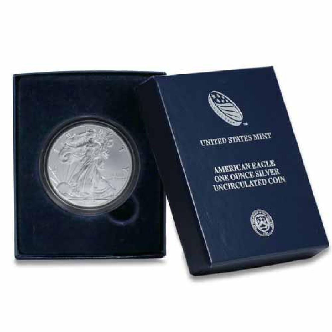 Burnished 2011-W Silver Eagle Original Mint Box