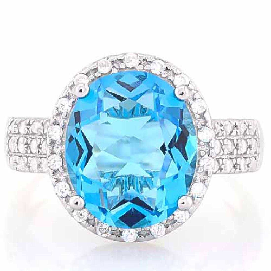5 CARAT CREATED SWISS TOPAZ & 4 CARAT (40 PCS) FLAWLESS
