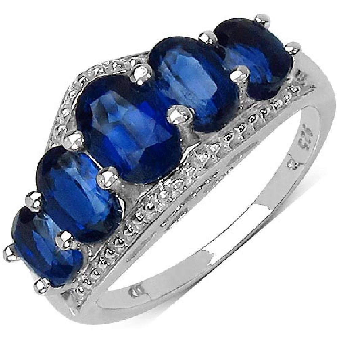 3.04 Carat Genuine Kyanite .925 Sterling Silver Ring