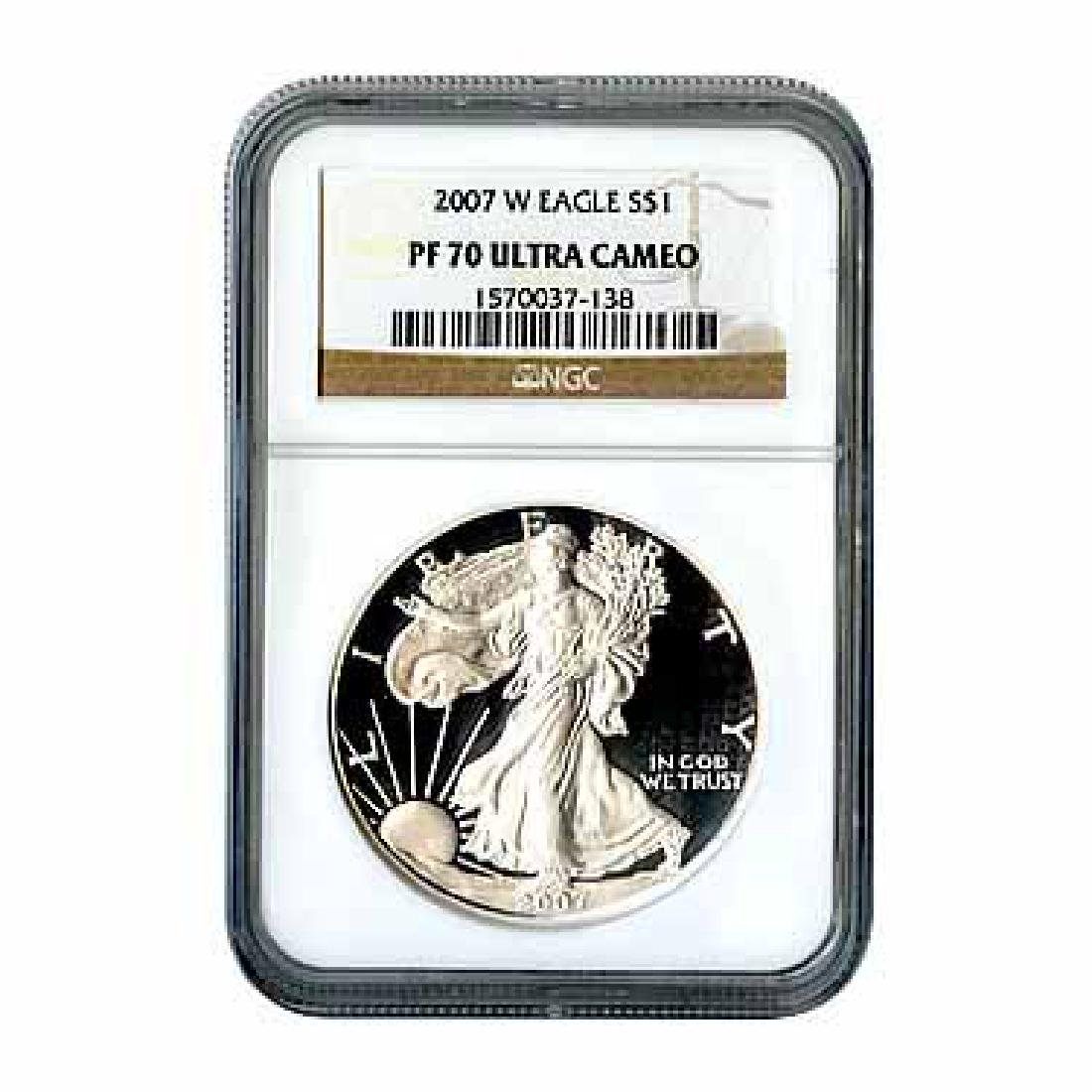 Certified Proof Silver Eagle 2007 PF70 NGC