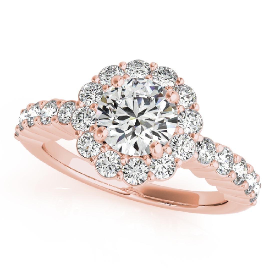 CERTIFIED 18K ROSE GOLD 1.21 CT G-H/VS-SI1 DIAMOND HALO