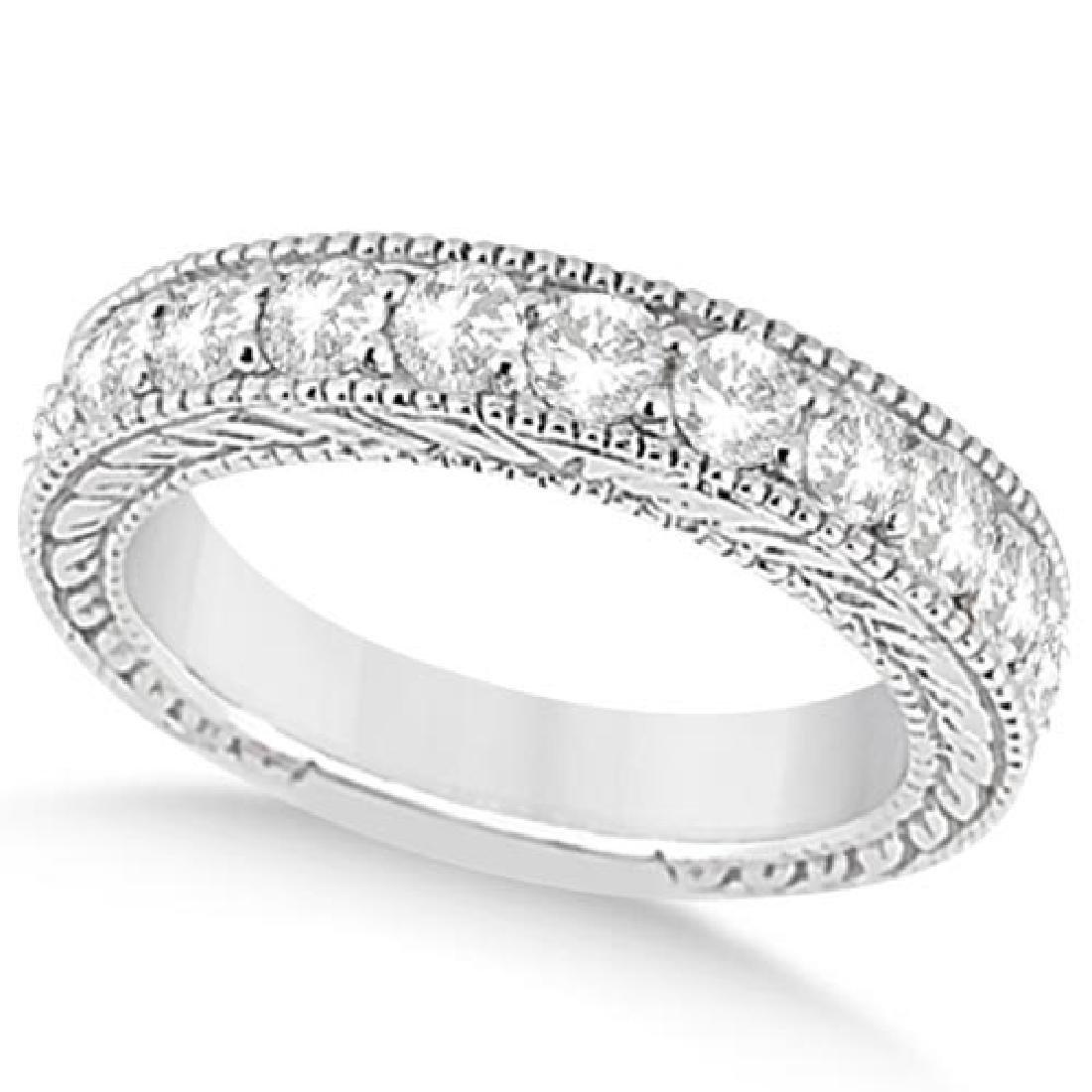Antique Diamond Engagement Wedding Ring Band 18k White