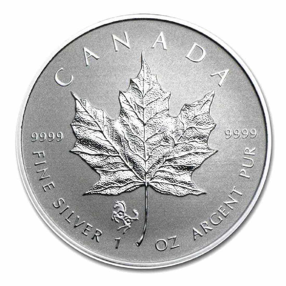 2014 Canada 1 oz. Silver Maple Leaf Reverse Proof Horse