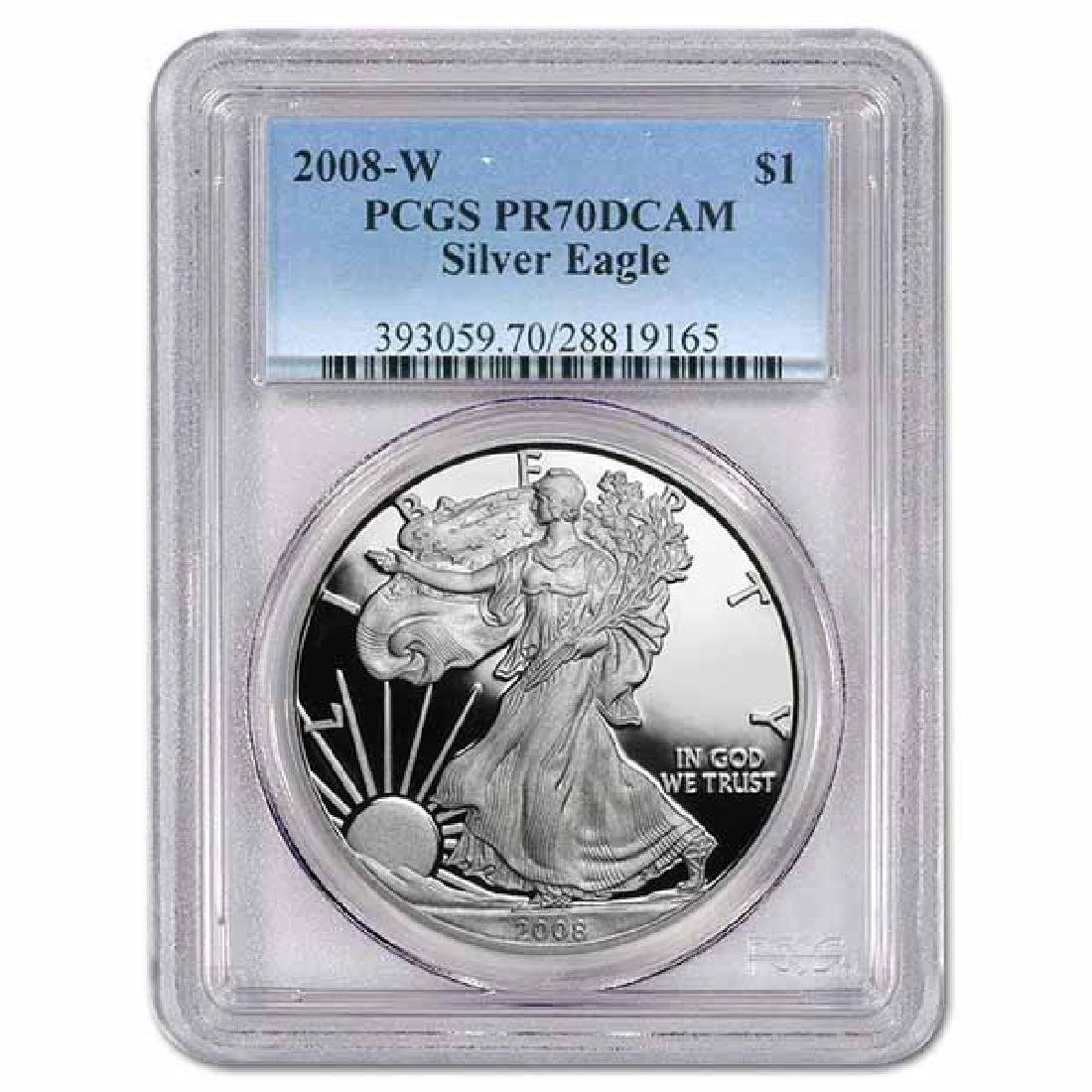Certified Proof Silver Eagle 2008 PR70DCAM PCGS
