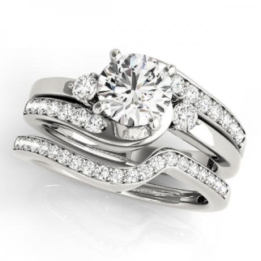 CERTIFIED PLATINUM 1.36 CT G-H/VS-SI1 DIAMOND BRIDAL SE