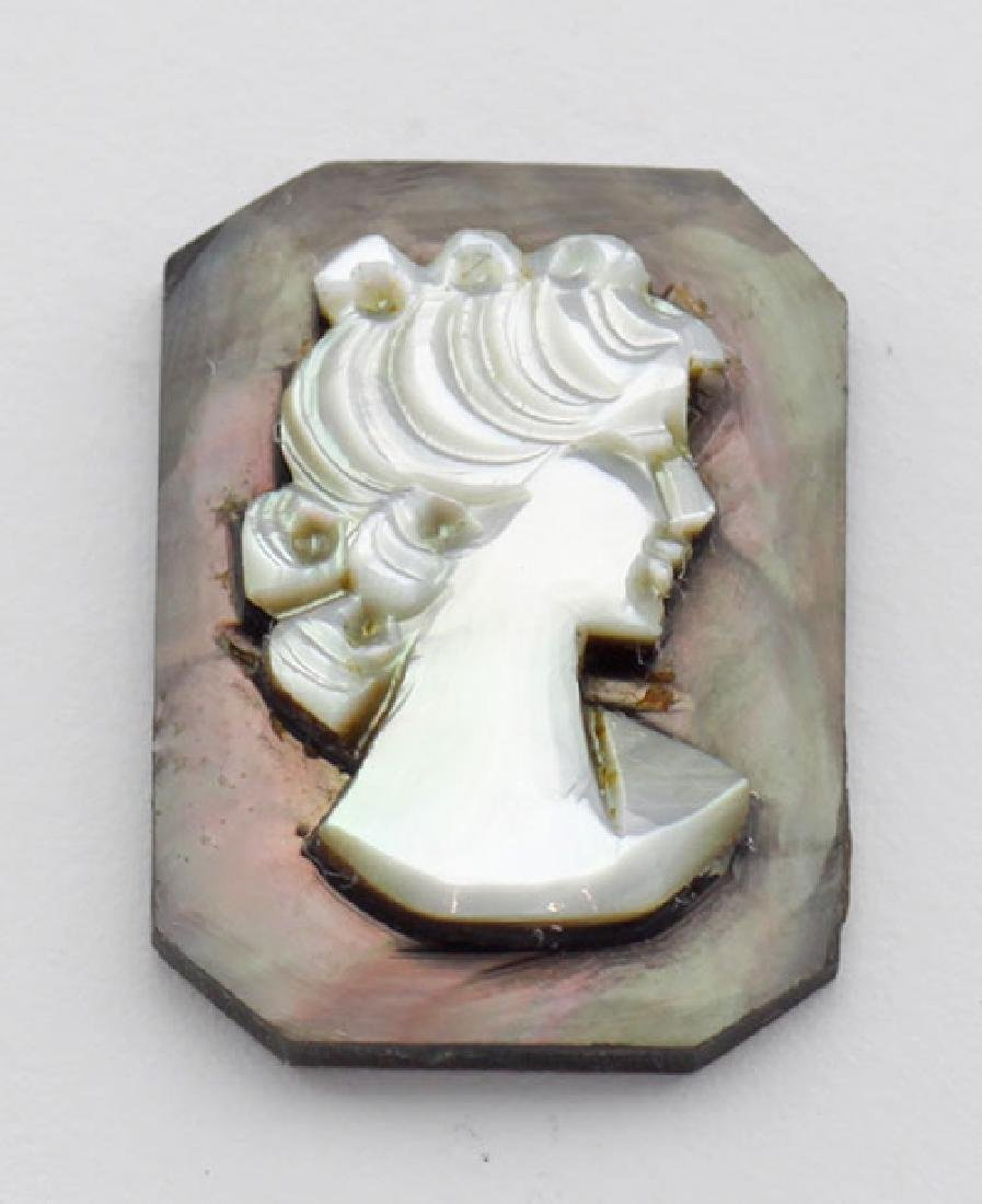 18 mm x 13 mm Octagon Hand Carved Italian Mother of Pea