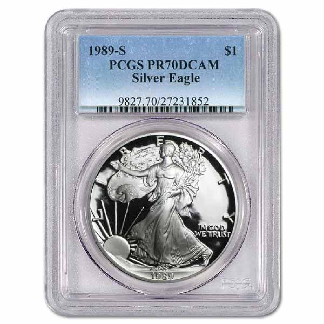 Certified Proof Silver Eagle 1989-S PR70DCAM PCGS