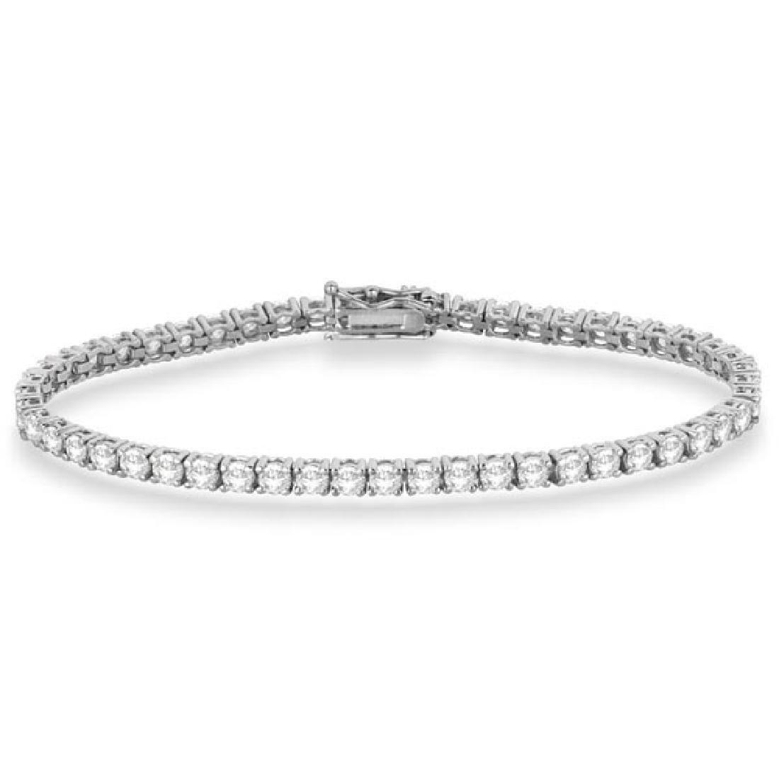 Eternity Diamond Tennis Bracelet 14k White Gold (4.13ct