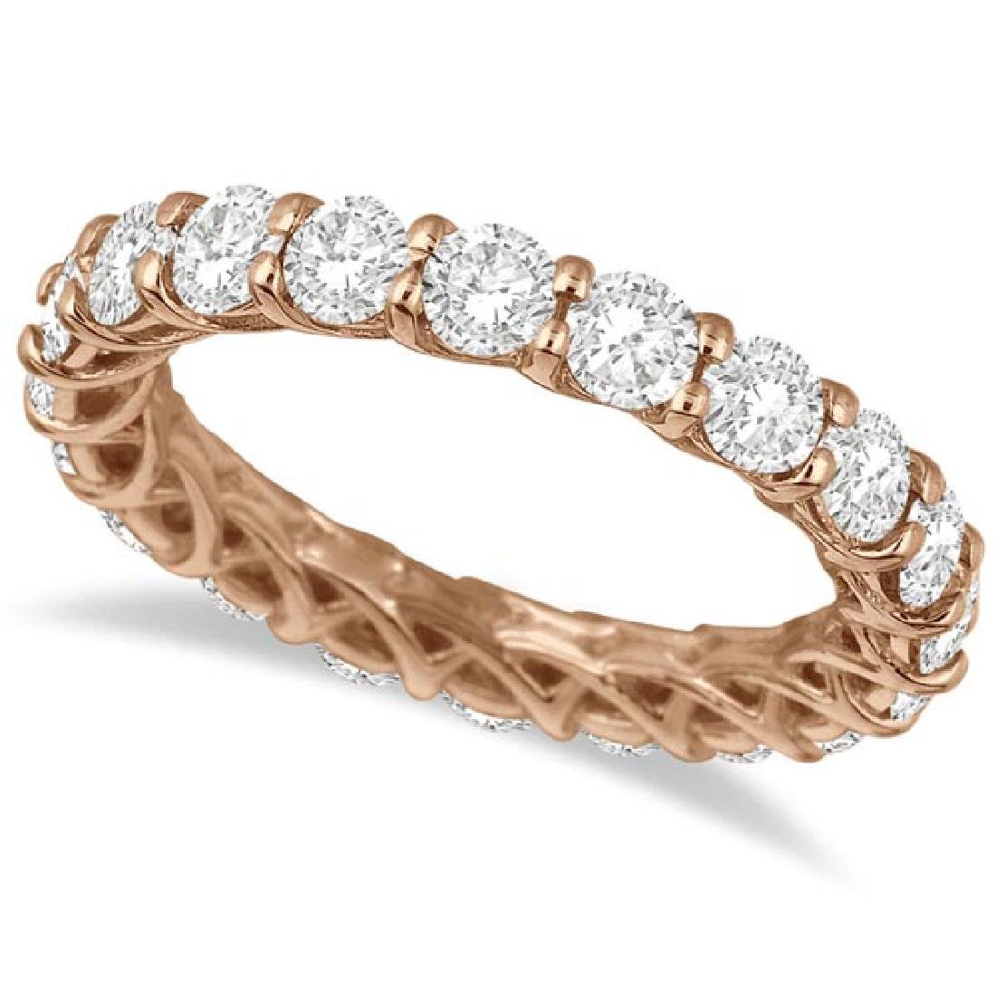 Luxury Diamond Eternity Anniversary Ring Band 14k Rose