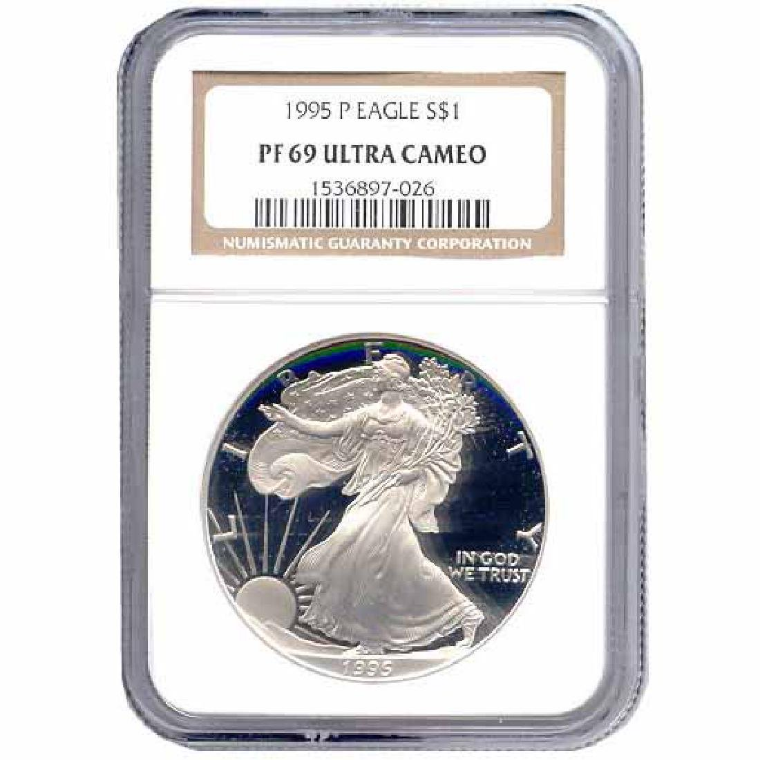 Certified Proof Silver Eagle PF69 1995