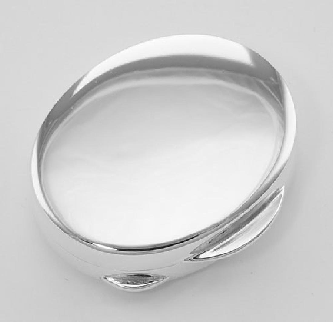 Premium Hand Made Italian Oval Sterling Silver Engravab