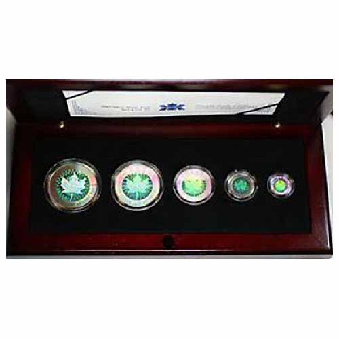 Canada 2003 Five Piece Silver Hologram Set