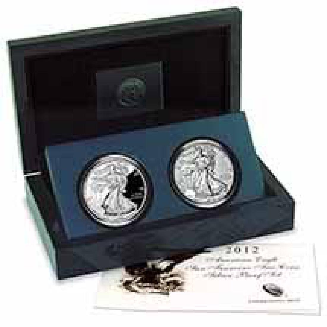 American Silver Eagle 2 Coin 2012 San Francisco Proof S