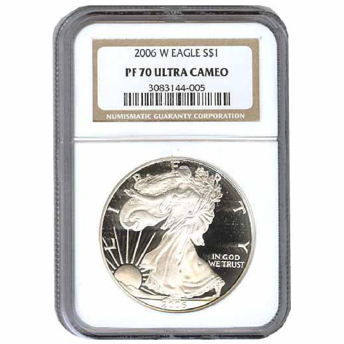 Certified Proof Silver Eagle 2006 PF70 NGC