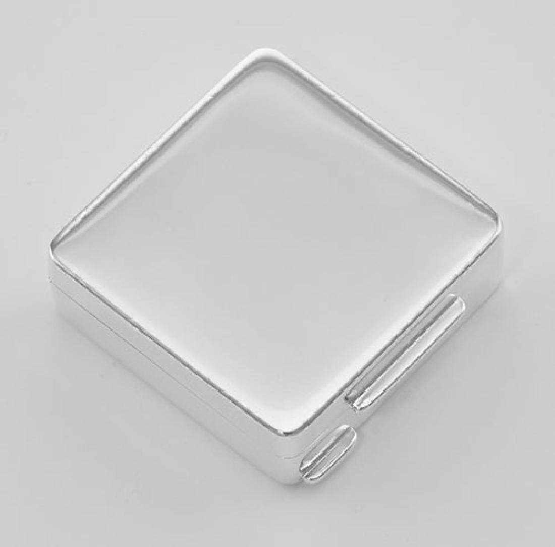 Premium Italian Square Sterling Silver Engravable Pillb