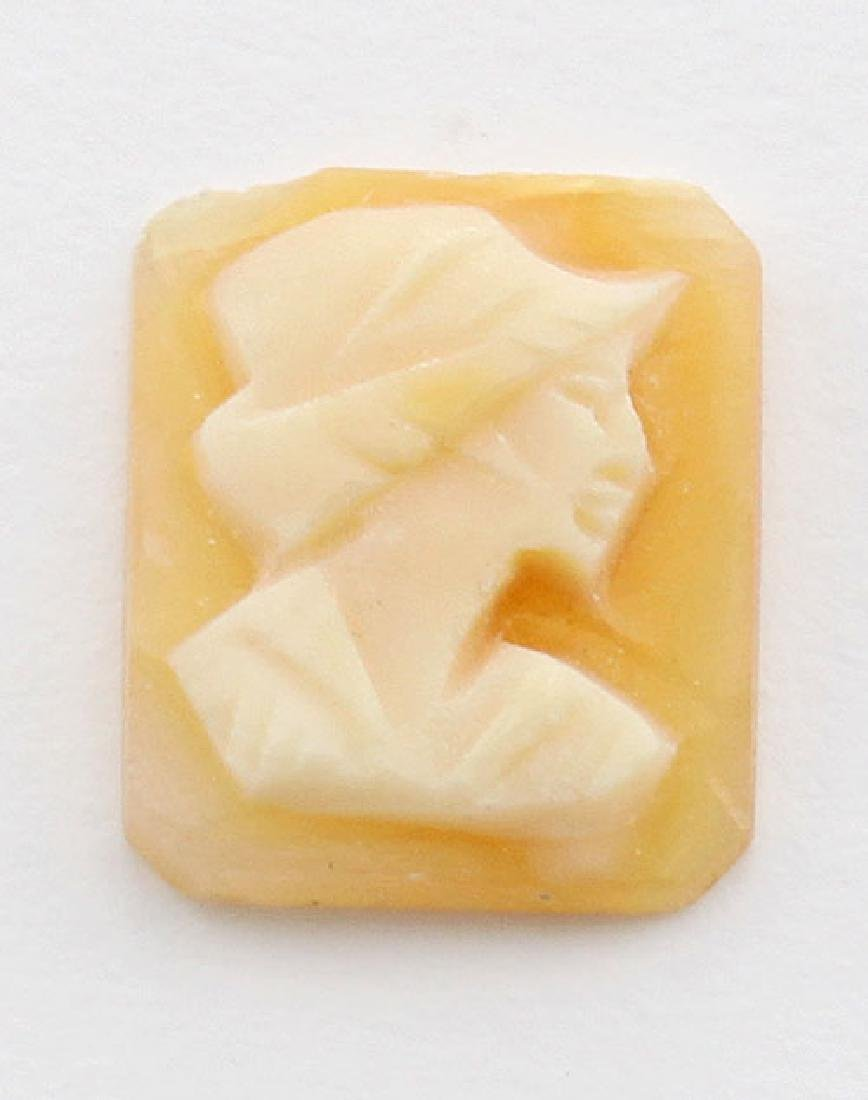 10 mm x 8 mm Octagon Hand Carved Italian Shell Cameo -