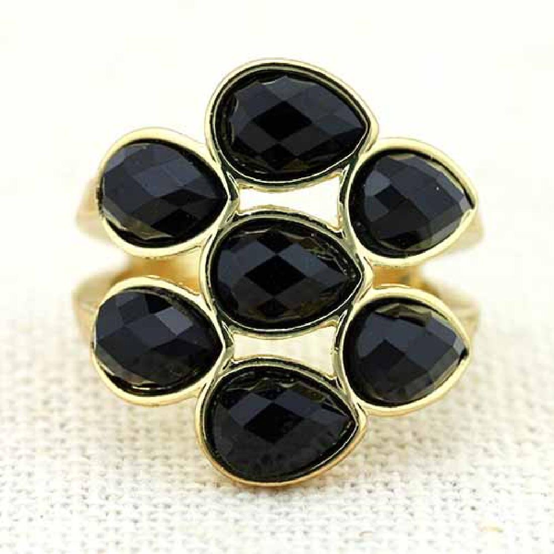 18K GOLD PLATED FASHION GERMAN SILVER RING