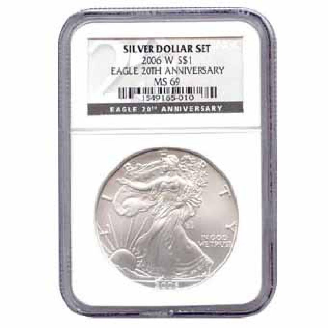 Certified 2006-W 20th Anniversary American Eagle Silver
