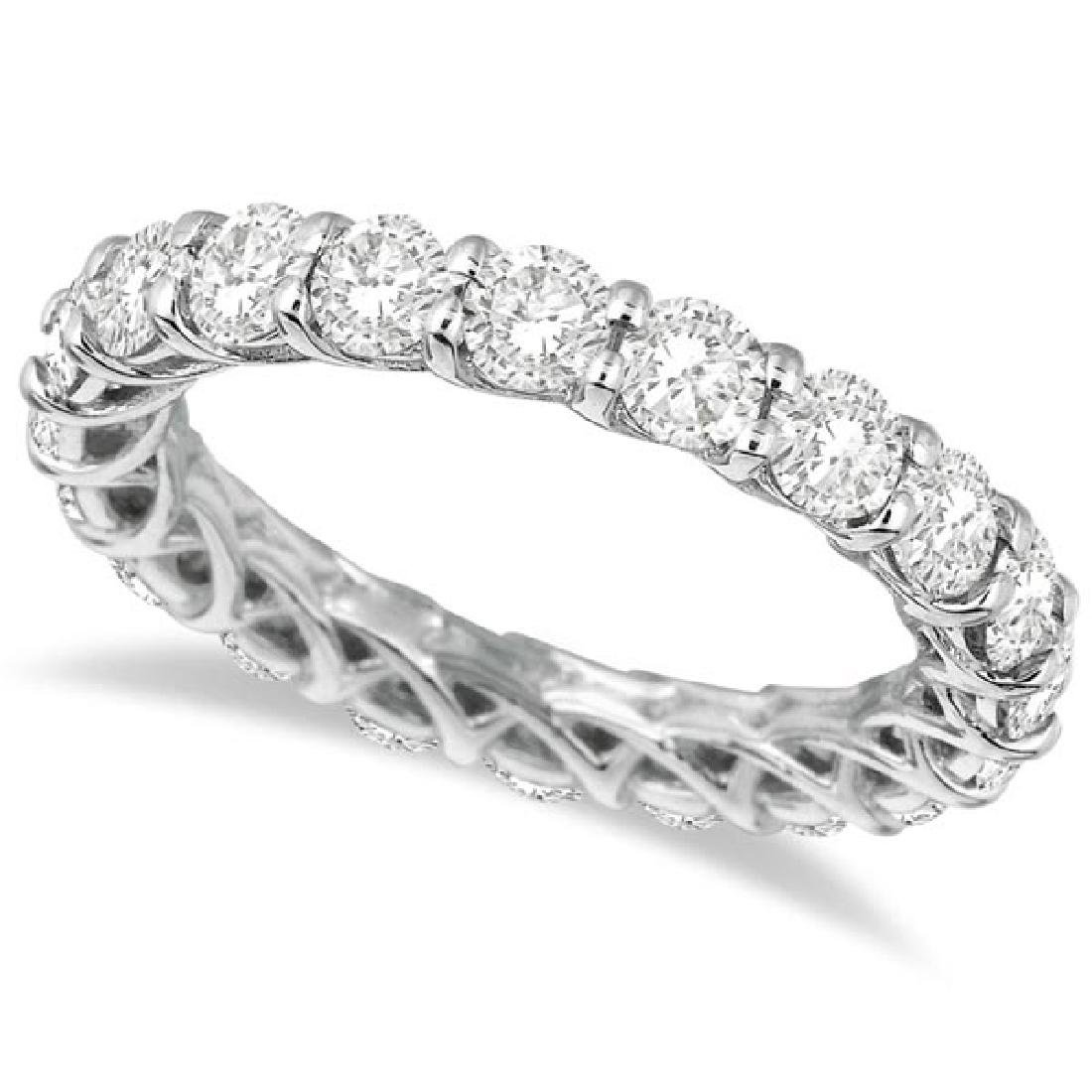 Luxury Diamond Eternity Band Anniversary Ring 14k White