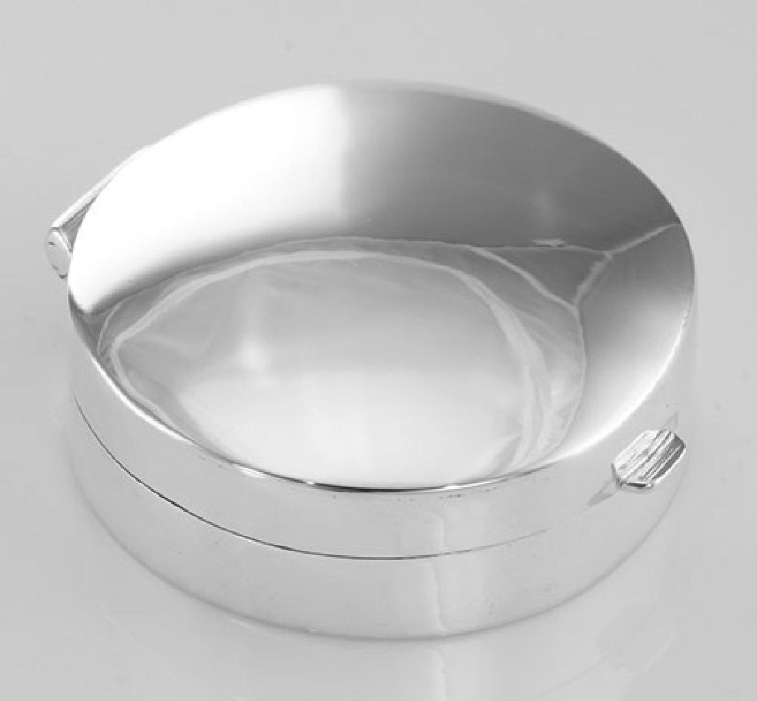 Medium Engravable Round Sterling Silver Pillbox