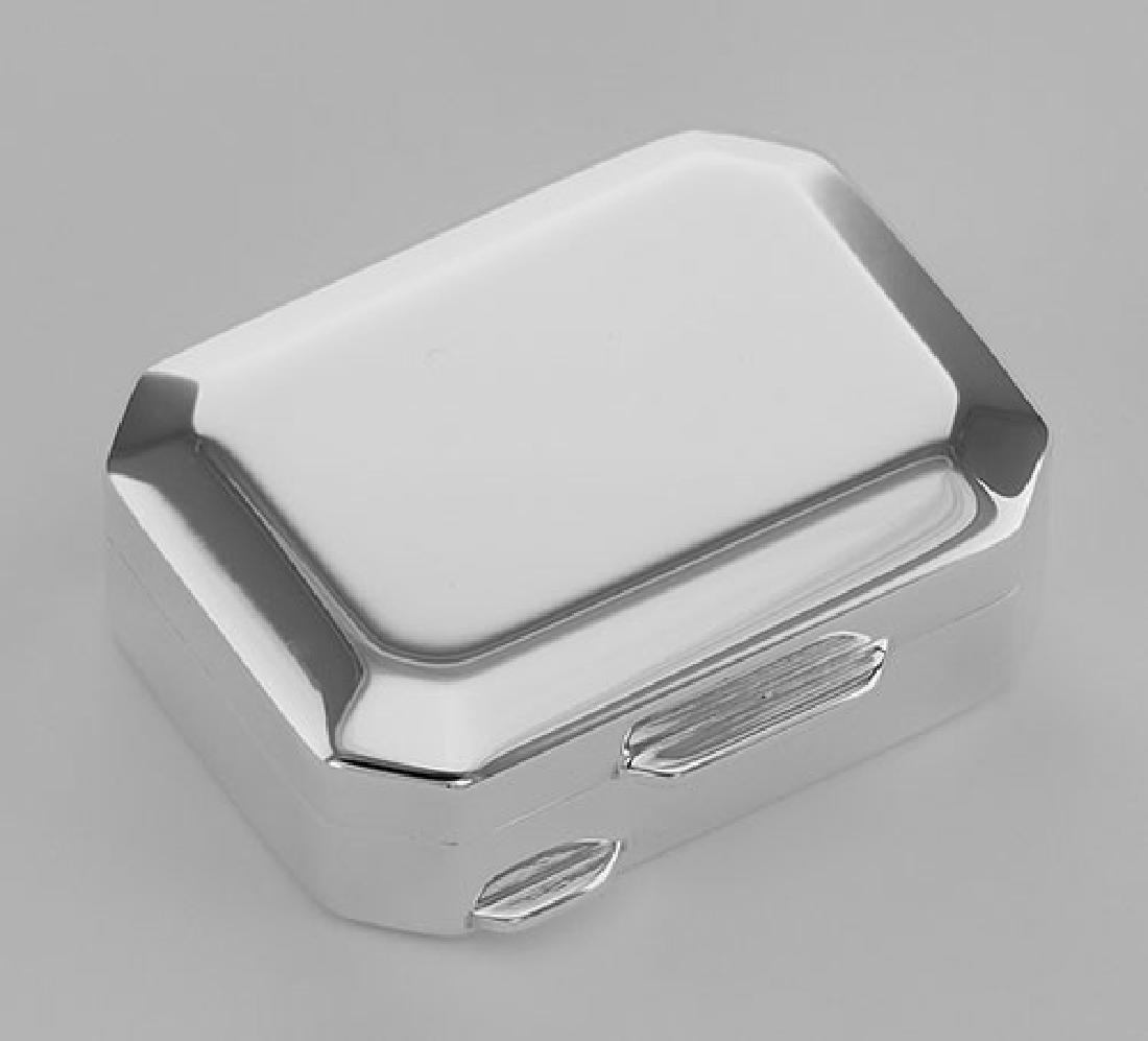 Italian Handmade Octagon Shaped Sterling Silver Pillbox