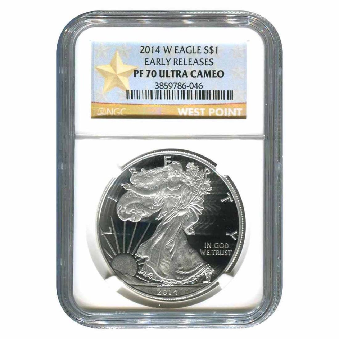 Certified Proof Silver Eagle 2014-W PF70 NGC Early Rele
