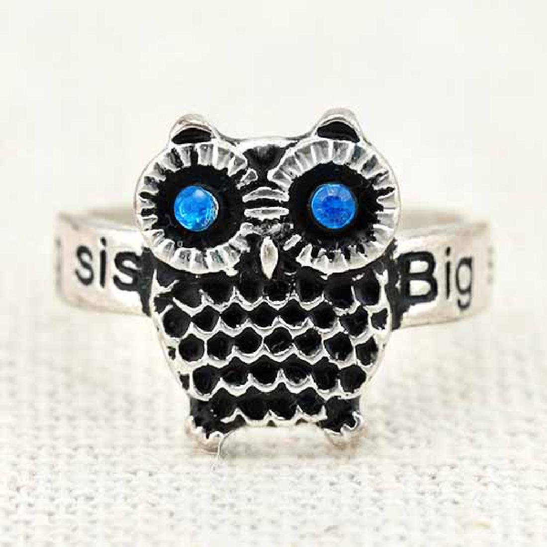 18K GOLD PLATED OWL GERMAN SILVER RING